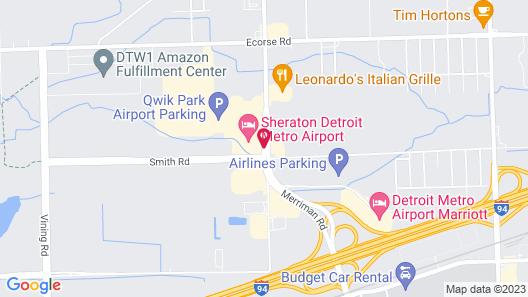 Sheraton Detroit Metro Airport Map