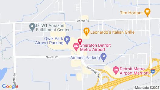 Holiday Inn Express Romulus / Detroit Airport, an IHG Hotel Map