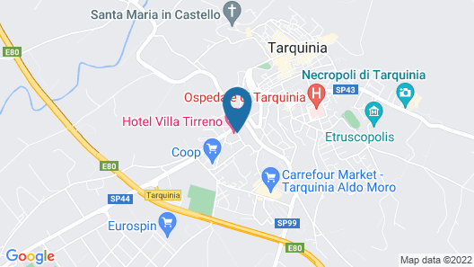 Villa Tirreno Map