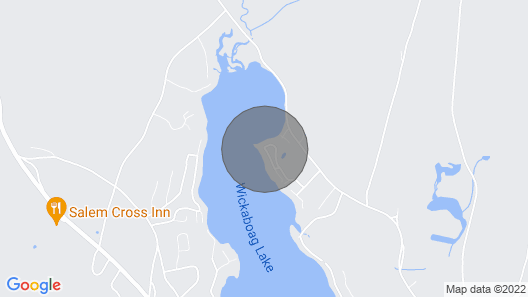 Waterfront New England House on Wickaboag Lake! Map