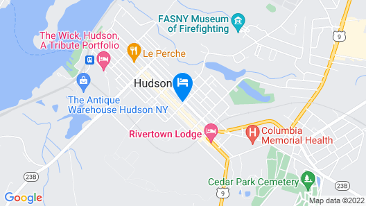 Located in the Heart of Hudson /warren St NY Map