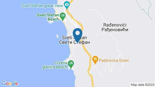 Adria lux Apartments Sveti Stefan Map