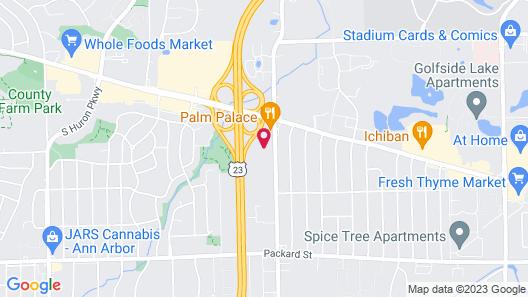 Quality Inn & Suites Ann Arbor Hwy 23 Map