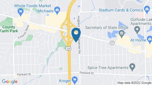 Quality Inn & Suites Ann Arbor Hwy 23 Map