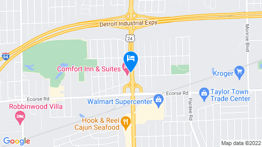 Comfort Inn and Suites Taylor Map
