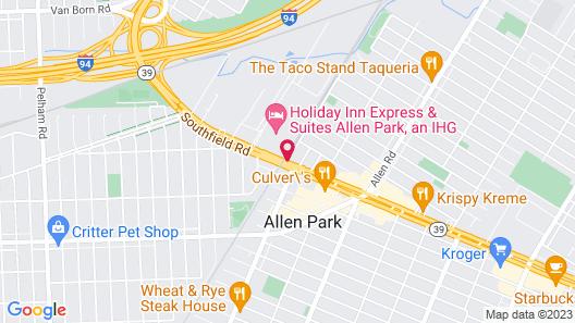 Hampton Inn & Suites Allen Park Map