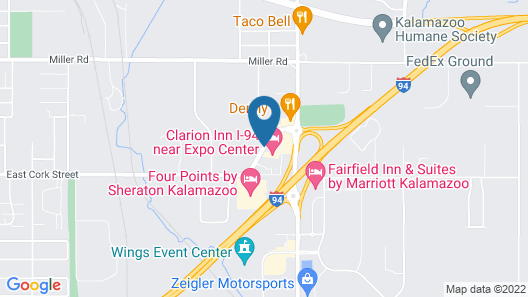 Clarion Inn I-94 near Expo Center Map