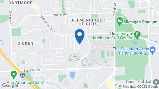 Mid-century Modern Gem in the Heart of Ann Arbor, Short Walk to Michigan Stadium Map