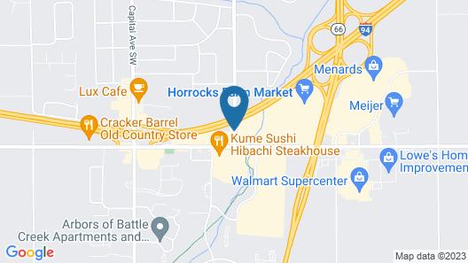 Hampton Inn Battle Creek Map