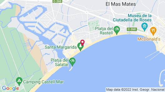 Hotel Monterrey Roses by Pierre & Vacances Map