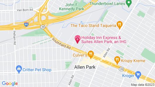 Holiday Inn Express & Suites Allen Park, an IHG Hotel Map