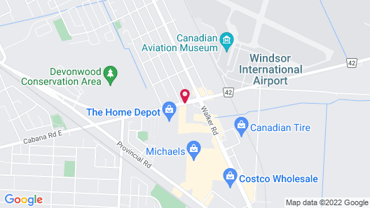 Travelodge by Wyndham Windsor Map