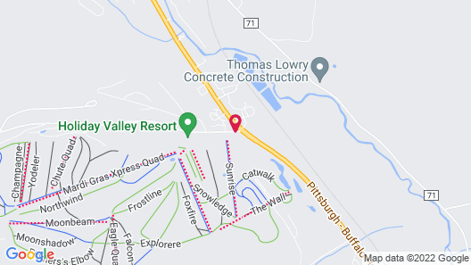 The Inn At Holiday Valley Map