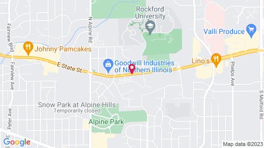 Motel 6 Rockford, IL Map