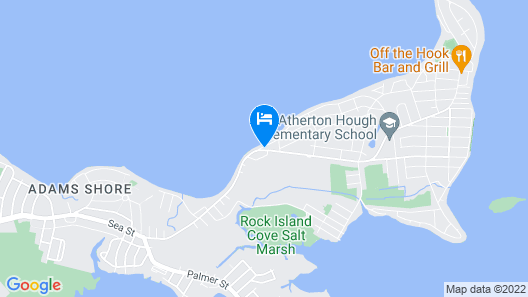 Waterfront Property. Beach Kayaks Boston and Harbor Views Map