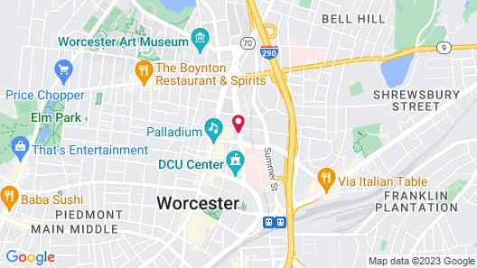 Hilton Garden Inn Worcester Map