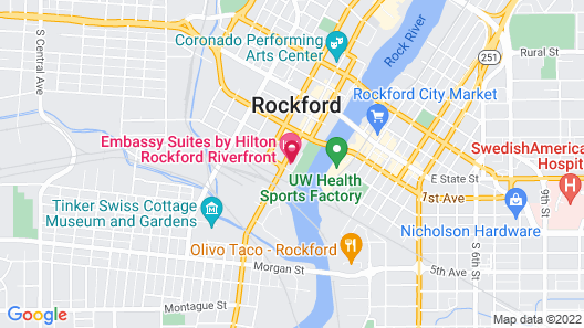 Embassy Suites by Hilton Rockford Riverfront Map