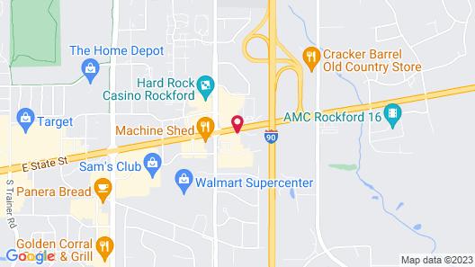 Hilton Garden Inn Rockford Map