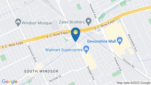 Comfort Inn Windsor Map