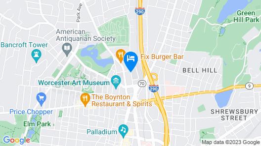 Hampton Inn & Suites Worcester, MA Map