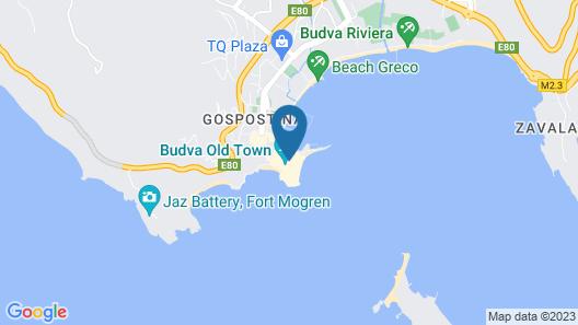 Montenegro Hostel B&B Budva Map