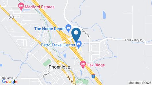 Americas Best Value Inn Phoenix Ashland Map