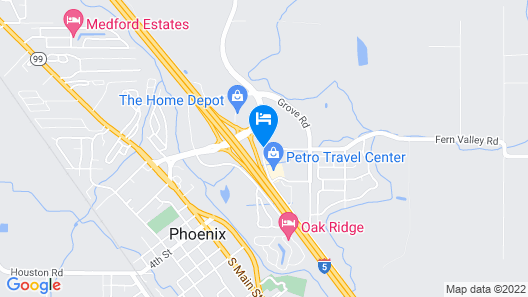 Americas Best Value Inn Phoenix Ashland Map