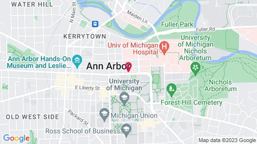 Ann Arbor Bed and Breakfast Inn Map