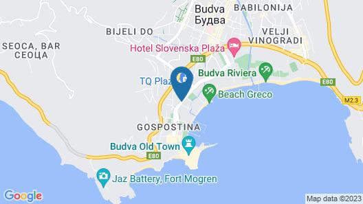 Apartments Villa Maslovar Map