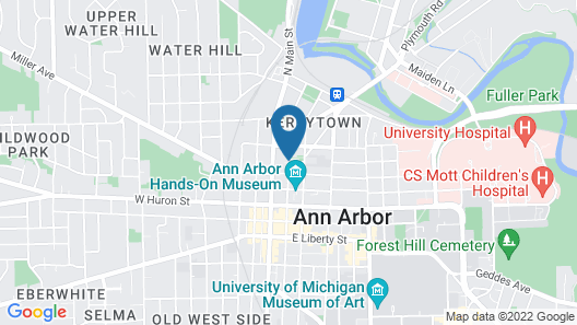 KT2 Downtown Ann Arbor/kerrytown Love Nest Map