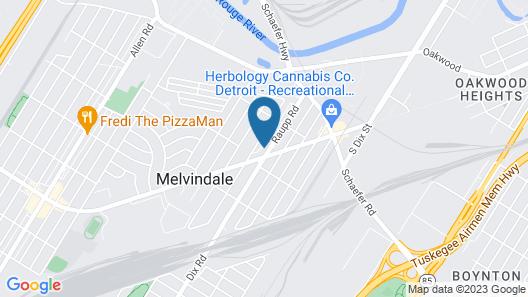 Motor City Inn & Suites Map