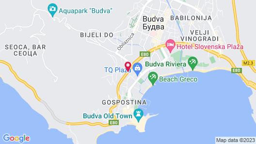 Vila Lux Hotel Map
