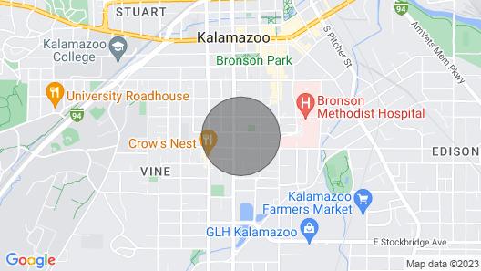 Walk to Downtown Kalamazoo Map