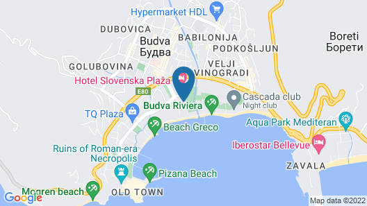 Hotel Tre Canne Map
