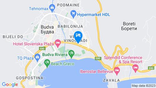 Slavija Budva Hotel Map