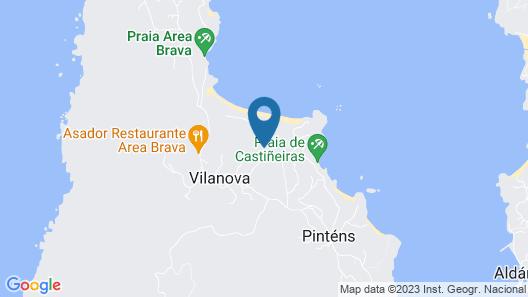 Casa con Jardín a 50m de la Playa en Hío Map