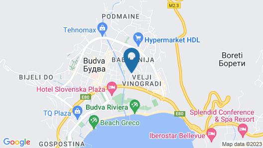 Hotel Sanja former Oliva Map