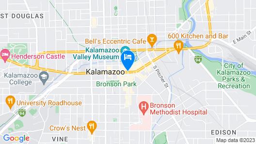 Radisson Plaza Hotel at Kalamazoo Center Map