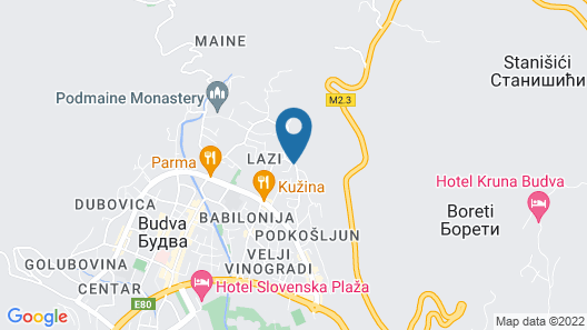 Saki Apartmani Map