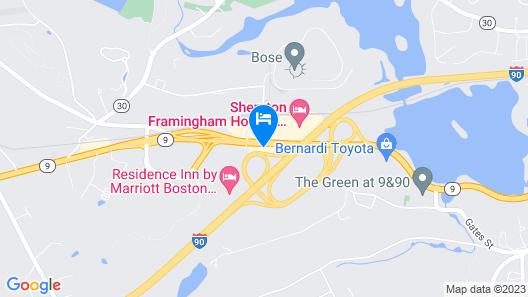 Motel 6 Framingham, MA - Boston West Map