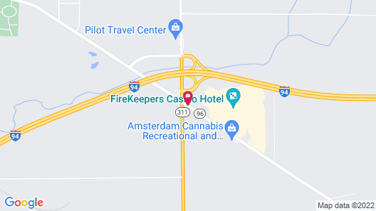 Quality Inn & Suites Next to the Casino Map