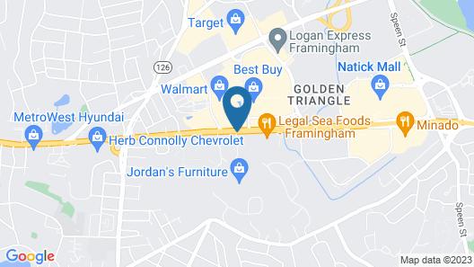 Monticello Inn Framingham Map