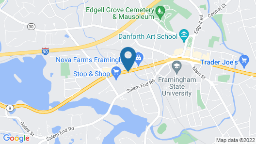 Econo Lodge Framingham Map