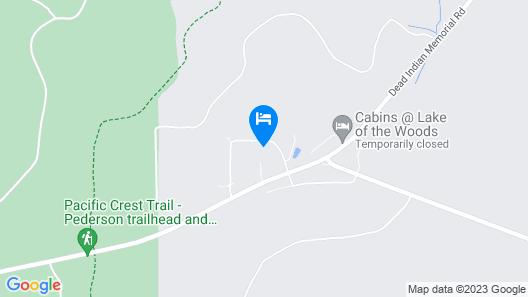 Klamath Falls Cabin w/ Patio & Mountain Views! Map