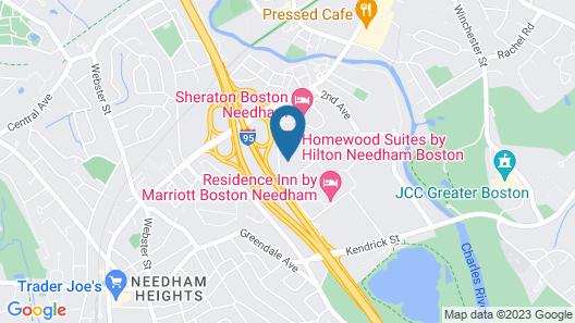 Homewood Suites by Hilton Needham Boston Map