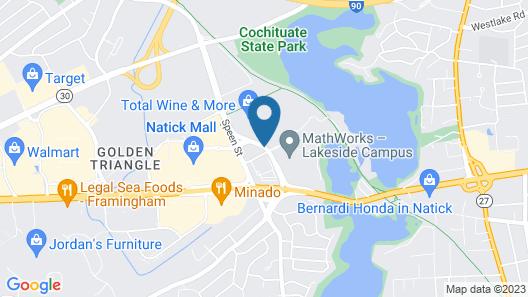 Hampton Inn Boston Natick Map