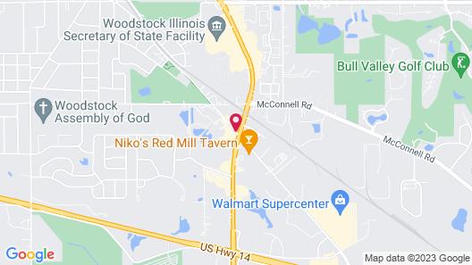 Best Western Woodstock Inn Map