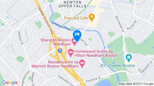 Sheraton Boston Needham Hotel Map