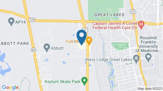 Sleep Inn near Great Lakes Naval Base Map