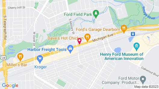 Hampton Inn by Hilton Detroit Dearborn Map
